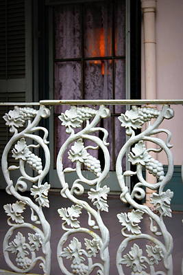 Photograph - Porch Railing - The Myrtles Plantation by Beth Vincent