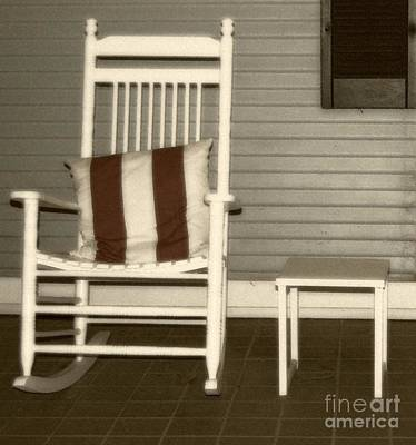 Rocking Chairs Photograph - Porch Rocker by Debbi Granruth