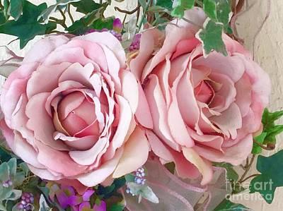 Porch Roses Art Print