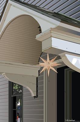 Porch Star Art Print by Bill Dussinger
