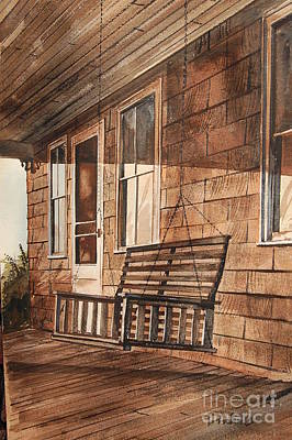 Swing Painting - Porch Swing by Bill Dinkins