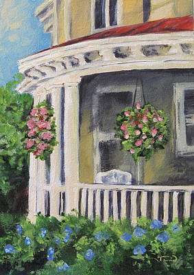 Charleston Houses Painting - Porch by Torrie Smiley