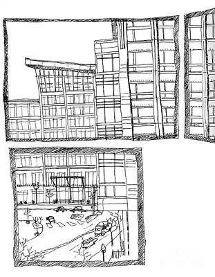 Street Car Drawing - Porch View by Kristy Lankford