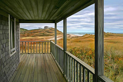 Digital Art - Porch View by Sue  Brehant
