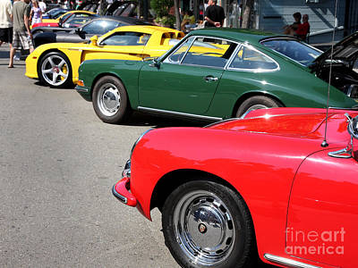 Porche Photograph - Porche Row by Wingsdomain Art and Photography