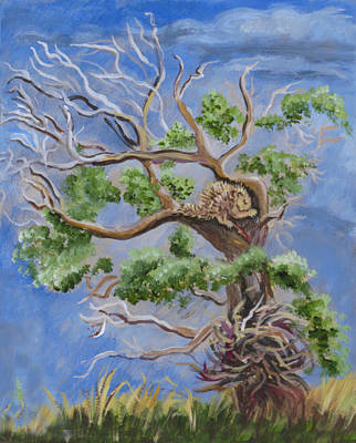 Painting - Porcupine In Cottonwood by Dawn Senior-Trask