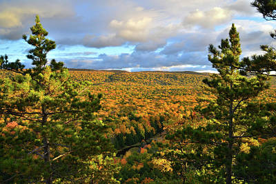 Photograph - Porcupine Mountains Fall Colors by Ray Mathis