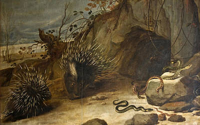 Viper Painting - Porcupines And Vipers by Frans Snyders