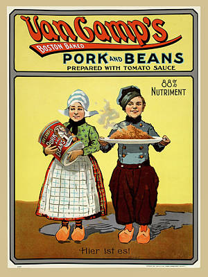 Photograph - Pork And Beans Hans And Lena Poster 1901 by Phil Cardamone