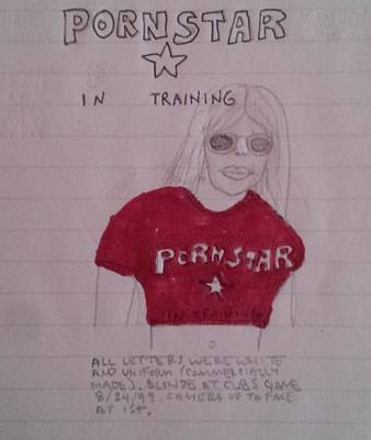Chicago Baseball Drawing - Pornstar In Training by William Douglas