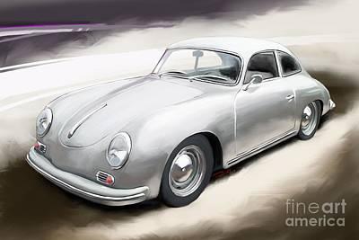 Sportscar Drawing - Porsche 356 A Coupe by Reinhold Fine Art