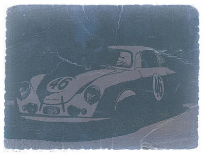 Porsche 356 Coupe Front Print by Naxart Studio
