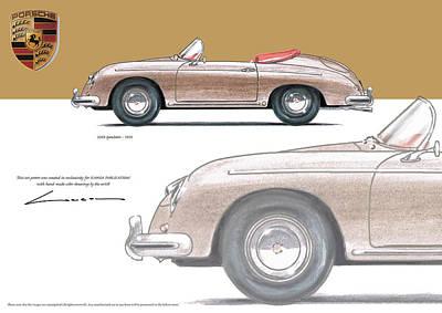 Porsche 356 Speedster 1954 Art Print by Luc Cannoot