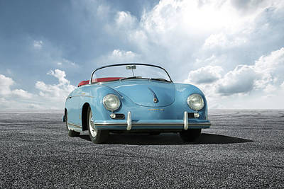Digital Art - Porsche 356 Speedster by Peter Chilelli