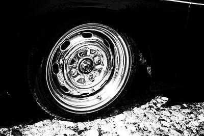 Porsche 356 Speedster Wheel Art Print by Georgia Fowler