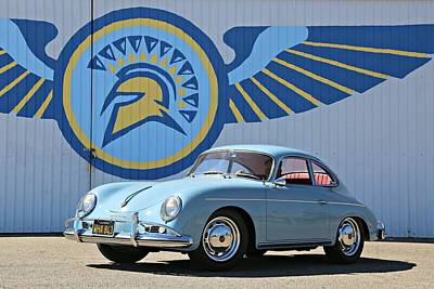 Photograph - Porsche 356a True Blue by Steve Natale