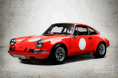 Digital Art - Porsche 911 2.3 St, Group Iv Special Gt, Model 1970 by Mohamed Elkhamisy