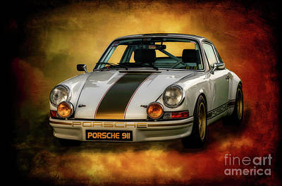 Race Cars Photograph - Porsche 911 by Adrian Evans