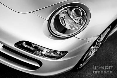 Left Photograph - Porsche 911 Black And White by Paul Velgos