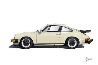 Porsche 911 Carrera Print by Alain Jamar