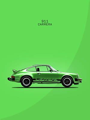 Retro Photograph - Porsche 911 Carrera Green by Mark Rogan
