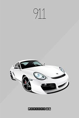 Painting - Porsche 911 Iconic Poster by Beautify My Walls