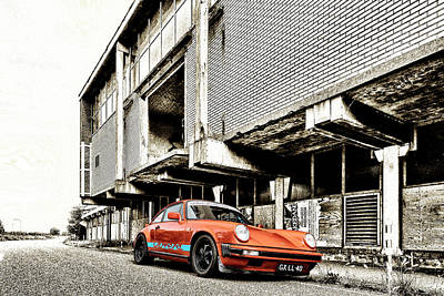 912 Photograph - Porsche 911 In Orange And Gold by 2bhappy4ever