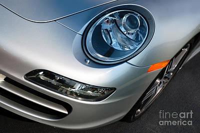 Headlight Photograph - Porsche 911 by Paul Velgos