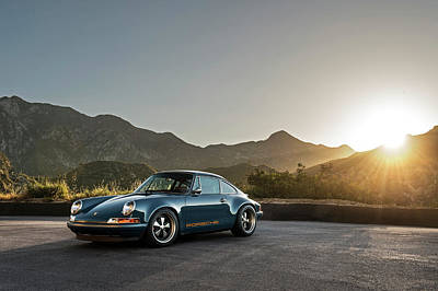 Photograph - Porsche 911 Reimagined By Singer by Drew Phillips