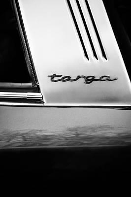 Photograph - Porsche 911 S Targa Emblem -ck0100bw by Jill Reger