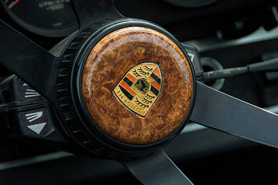 Photograph - Porsche 911 Steering Wheel by 2bhappy4ever