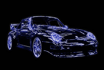 Digital Art - Porsche 911 by Stewart Scott