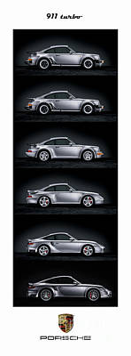 Photograph - Porsche 911 Turbo Generations by Mohamed Elkhamisy