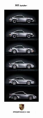 Photograph - Porsche 911 Turbo Generations by Mohamed Elkhamisy