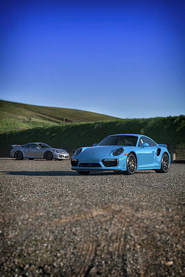 Photograph - #porsche 911 #turbo S And #gt3 #print by ItzKirb Photography