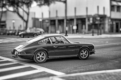 Porsche 911e Art Print by Howard Salmon
