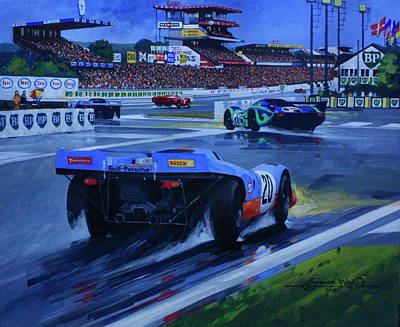 Steve Mcqueen Art Painting - Porsche 917 Le Mans 1970 by Simon Ward