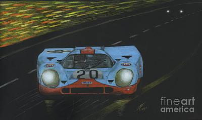Benetton Wall Art - Drawing - Porsche 917k 1970 by Lorenzo Benetton