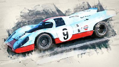 Painting - Porsche 917k - 80 by Andrea Mazzocchetti