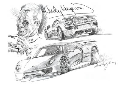 Painting - Porsche 918 Hurley Haywood by David Lloyd Glover