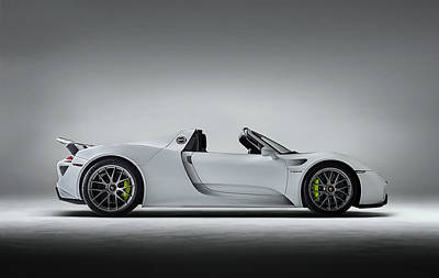 Germany Digital Art - Porsche 918 Spyder by Douglas Pittman