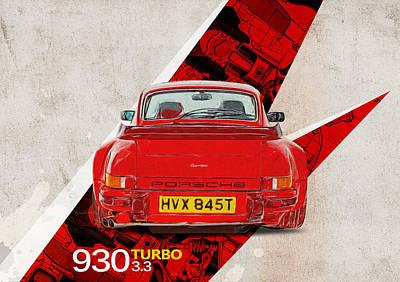 Porsche 930 Turbo 3.3 Art Print