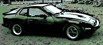 Colorful People Abstract Royalty Free Images - Porsche 944 on a Hot Afternoon Royalty-Free Image by George Pedro