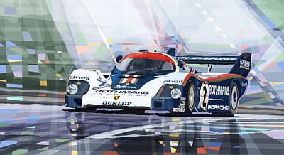 Porsche 956 Rothmans 1982 1000km Francorchamps Derek Bell Print by Yuriy  Shevchuk