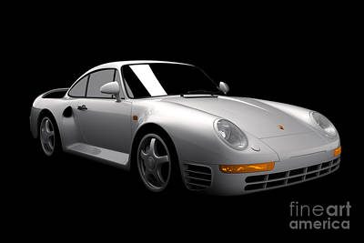 Digital Art - Porsche 959 by David Marchal