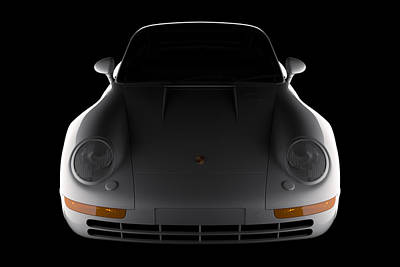 Digital Art - Porsche 959 - Front View by David Marchal