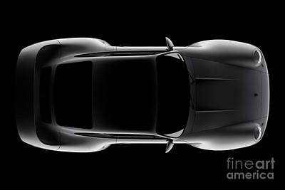 Digital Art - Porsche 959 - Top View by David Marchal