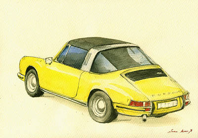 Poster Painting - Porsche 993 by Juan  Bosco