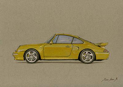 Porsche 993 Turbo S Art Original by Juan  Bosco