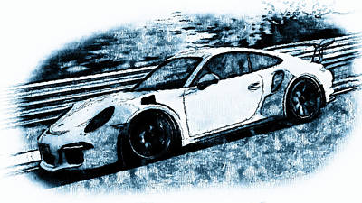 Painting - Porsche 997 Gt3 Rs - 04  by Andrea Mazzocchetti
